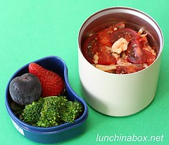 Mozzarella and fresh tomato pasta bento lunch for preschooler | by Biggie*