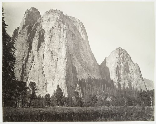 Cathedral Rock, Yosemite. | by New York Public Library