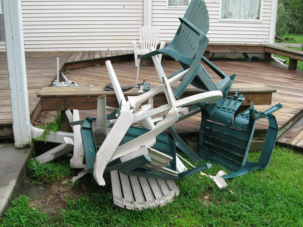 Awesome Gustav Deck Broken Lawn Chairs Tornado03 | Snipinfool | Flickr