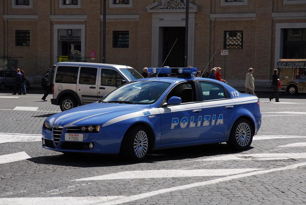 Alfa Romeo Police Car Vatican City Rome Alfa Romeo