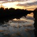 Looking west on the Erie Canal as the sun goes down