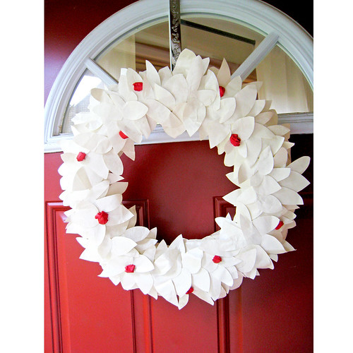 Berry Paper Wreath | by paperladyinvites