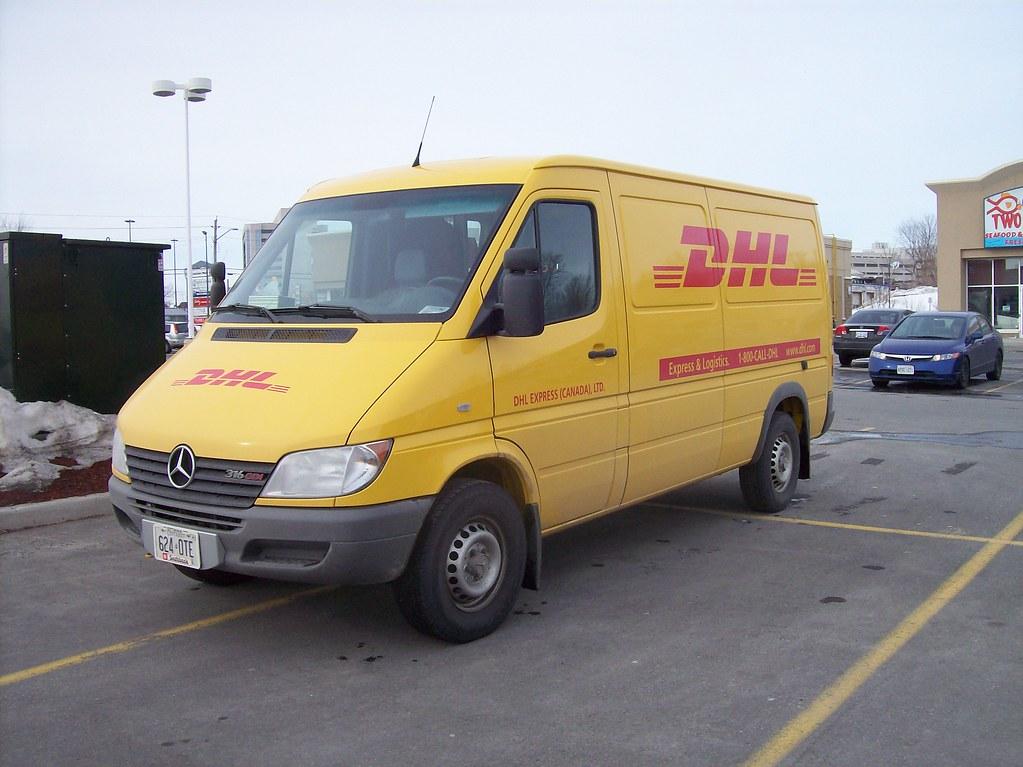 Mercedes Benz Vans >> Courier Vans in the Parking Lot: A DHL Mercedes Sprinter. | Flickr