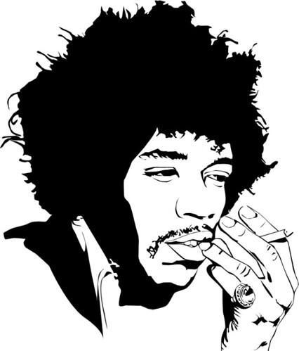 Jimi Hendrix Vector Tom Bolland Flickr