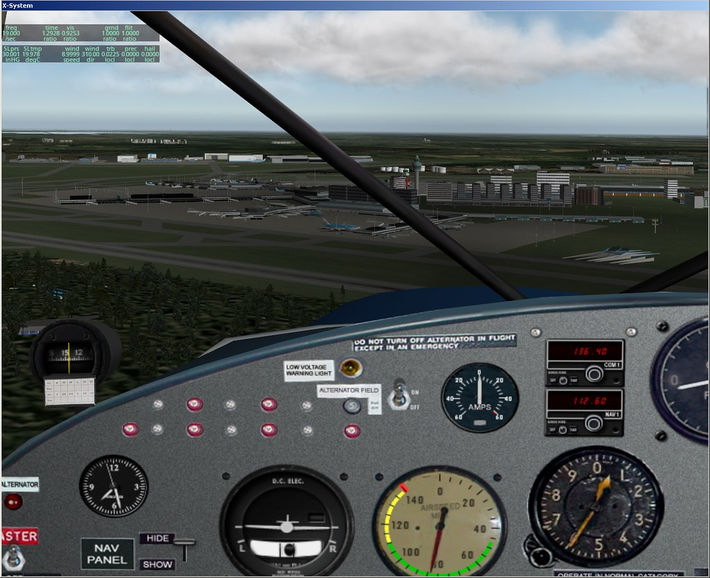 EHAM scenery in X-Plane 9 | Flying around looking at the EHA