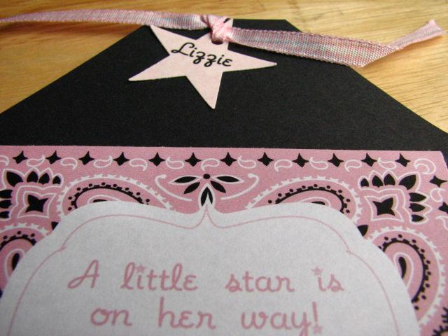 Pink Bandana Baby Shower Invitation Detail Of Name On Star Flickr