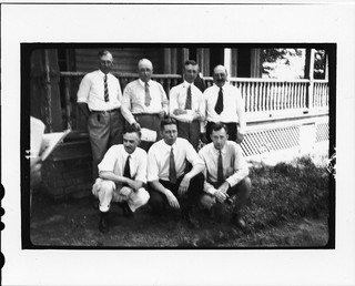 Tennessee v. John T. Scopes Trial: The seven scientists asked to testify for the defense standing in front of the Defense Mansion. | by Smithsonian Institution