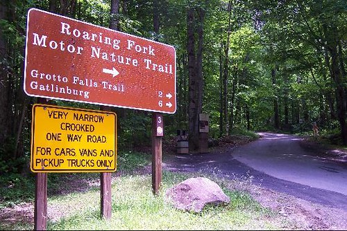 Roaring Fork Motor Nature Trail With A Speed Limit Of