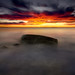 ocean stone sunrise