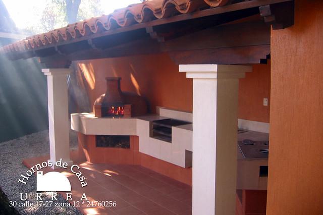 Cocina de exteriores con horno de le a churrasquera - Cocinas con horno de lena ...