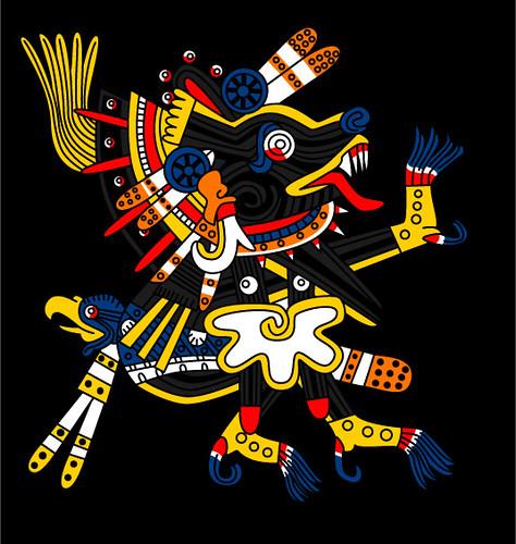 Xolotl - Codex Borgia 65 | Xolotl, frère jumeau obscur de Qu ...: https://www.flickr.com/photos/gwendalcentrifugue/2768824885