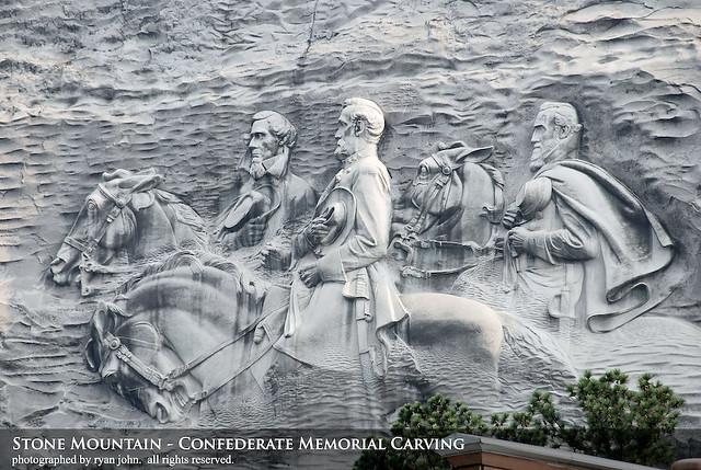 Stone mountain confederate memorial carving ryan john