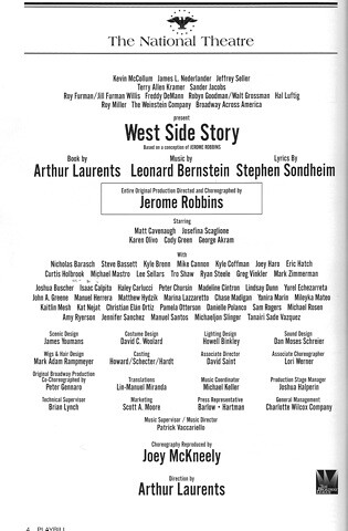 West Side Story playbill inside | Paris Not-Hilton | Flickr