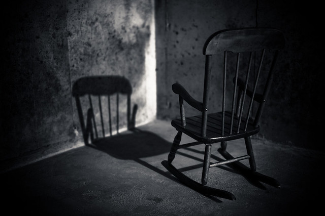 Scary Rocking Chair ~ Challenge chair loren zemlicka lo