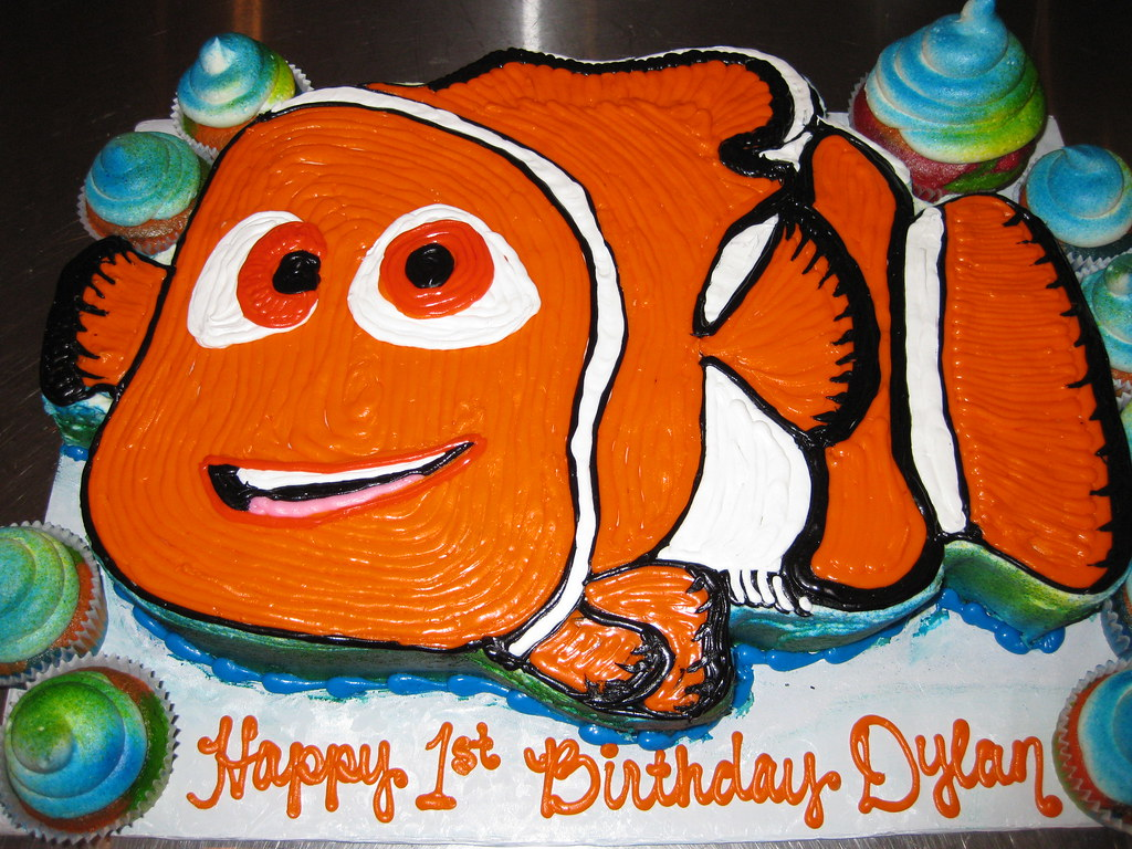 Nemo Clown Fish Birthday Cake The Sugar Me Bakery Flickr - Nemo fish birthday cake