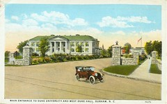 Postcard of Duke University's Main Entrance, ca. 1925 | by Duke University Archives