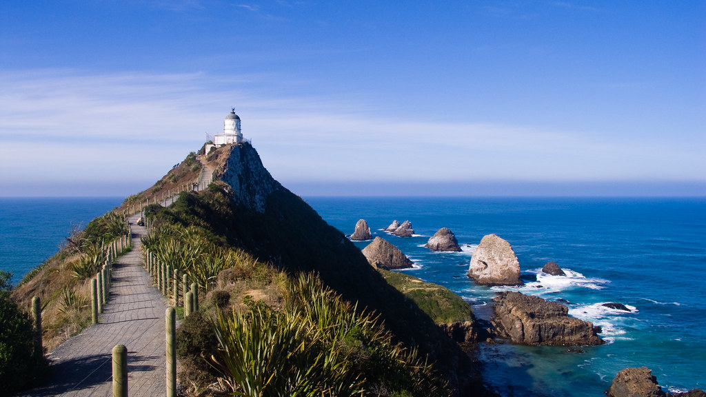 Nugget point lighthouse the catlins nz amazing for Landscape jobs nz