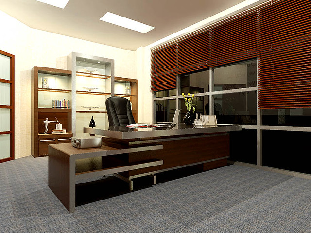 Main director office room view 1 our office project in for Director office room design