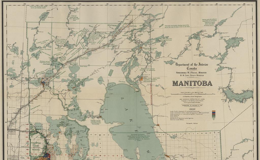 disposition of lands manitoba north sheet  1915