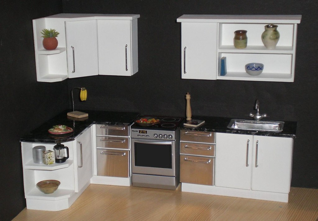 dollhouse kitchen furniture white modern 1 12th scale dollhouse kitchen from my