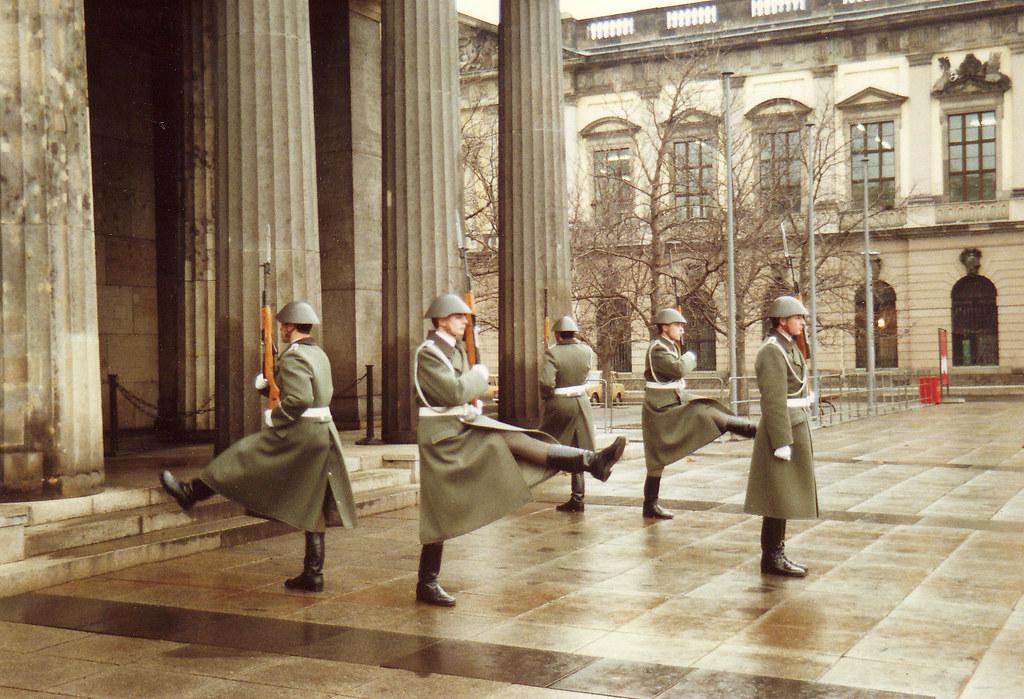 Old East German Army Honor Guards In East Berlin Germany