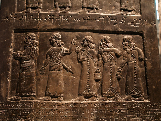 Assyrian relief carving men flickr photo sharing