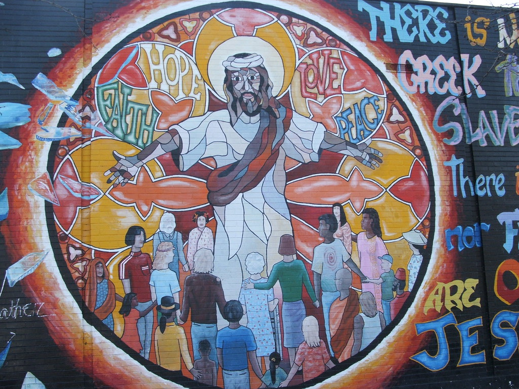 Racial reconciliation mural uptown chicago this mural for Mural in chicago illinois