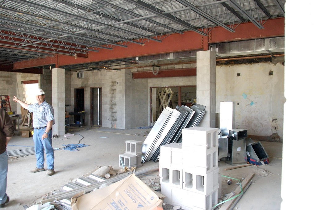 Foyer Area Jobs : Main foyer straight ahead is the gym and this will be