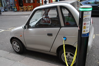 Electric car charging | by Alan Trotter