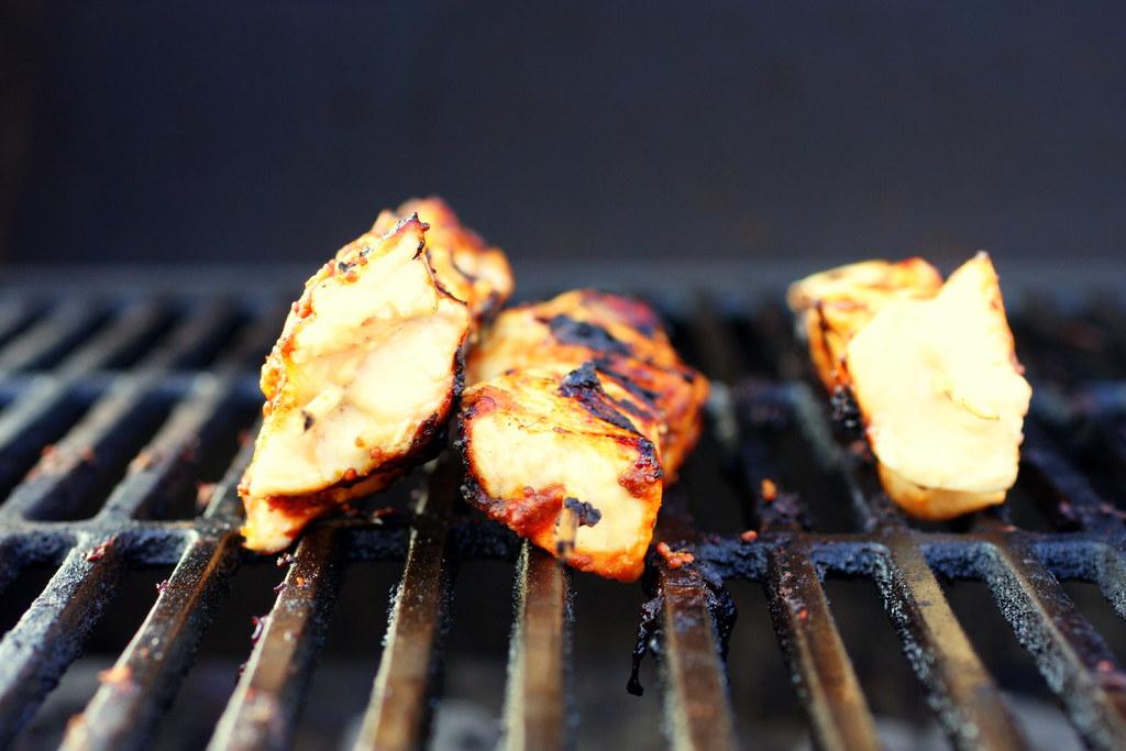 Garlic-Mustard Glazed Skewers on smittenkitchen.com | Flickr