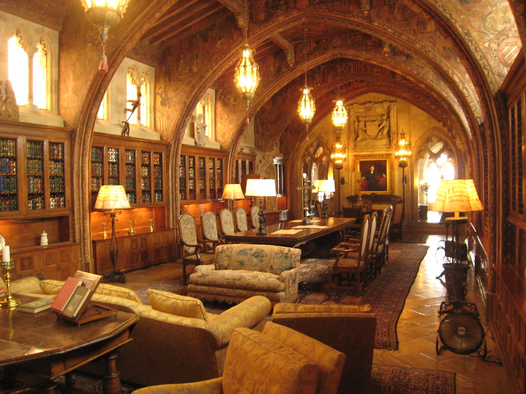 The Gothic Library Hearst S Study Library And