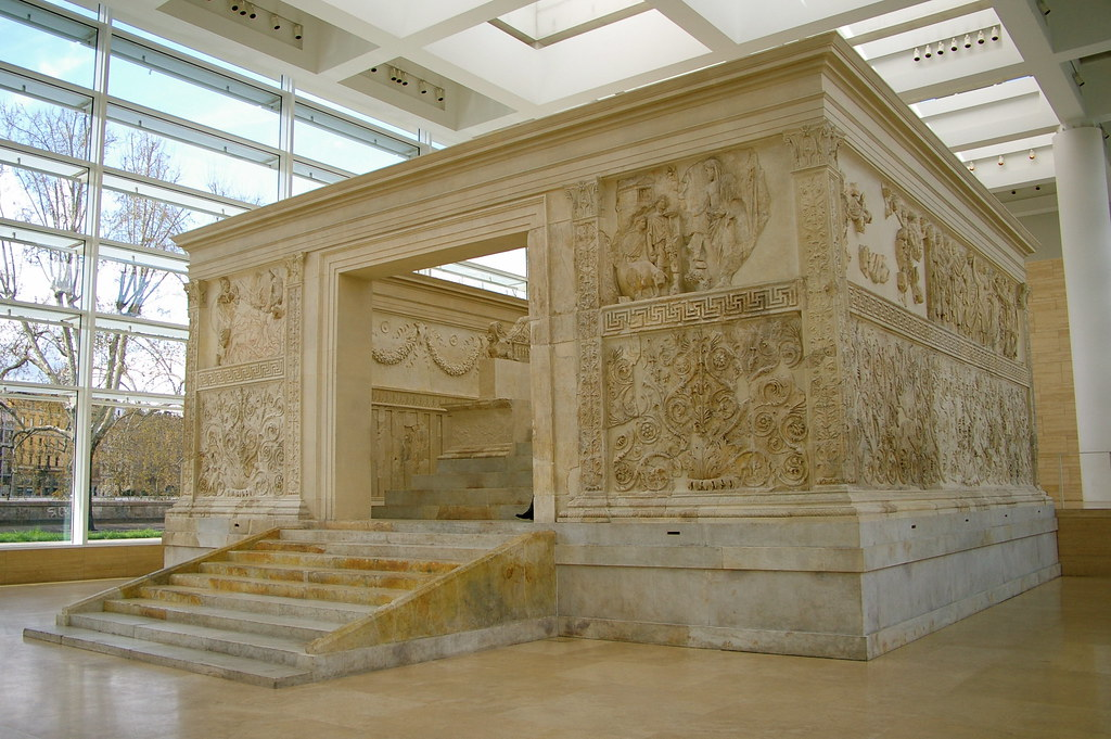 Ara Pacis Augustae | Altar of Augustan Peace built around ...