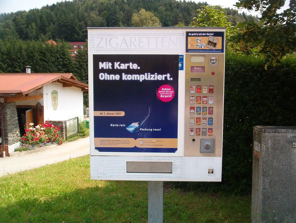 German Cigarette Vending Machine A Cigarette Vending