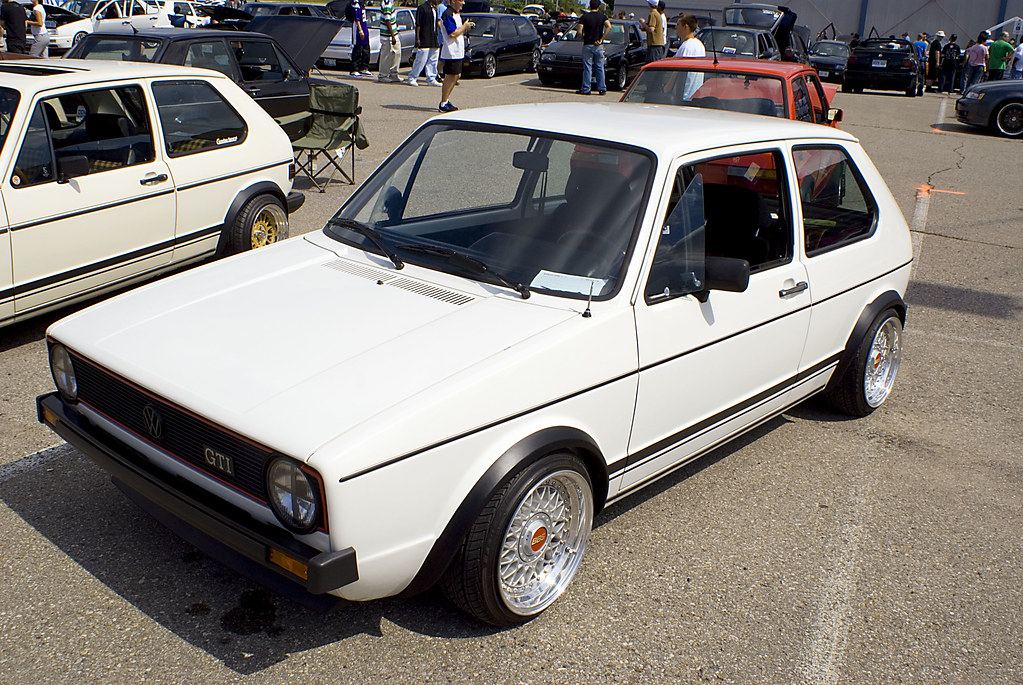 Vagkraft 2008 - 249 - White VW Rabbit GTI MK1 Euro | Flickr