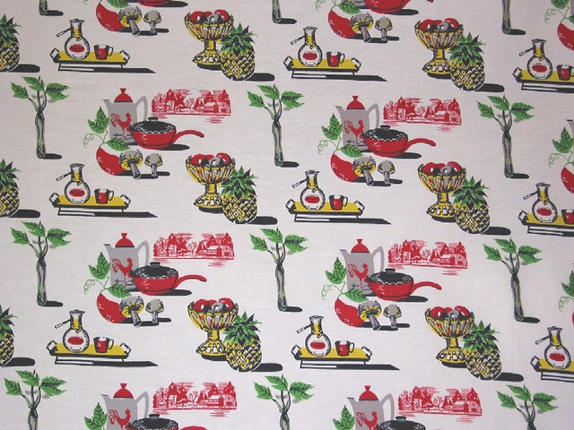 Vintage Kitchen Fabric New Decorating Design