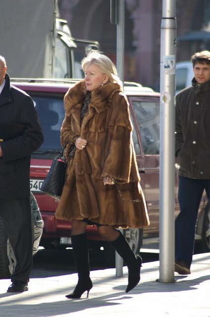 street fur fashion mature ladymink furboots tomas