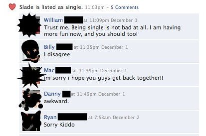 reason #784 why you should never list your relationship status in your facebook profile | by passiveaggressivenotes