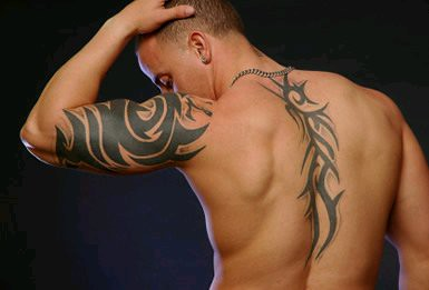tribal tribe various small and large back piece tattoos fl flickr. Black Bedroom Furniture Sets. Home Design Ideas