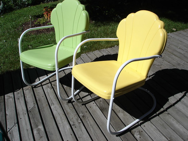 Beau ... Our Vintage Shell Back Metal Lawn Chairs | By CB160 Guy