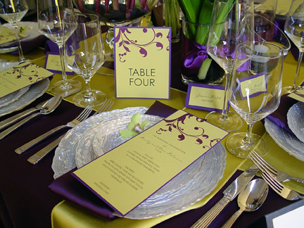 Table Setting Purple Crescentmoonpaper Flickr
