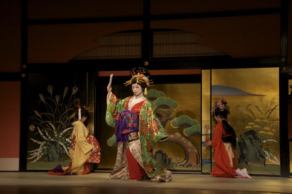Representación Oiran en Nikko Edo Mura
