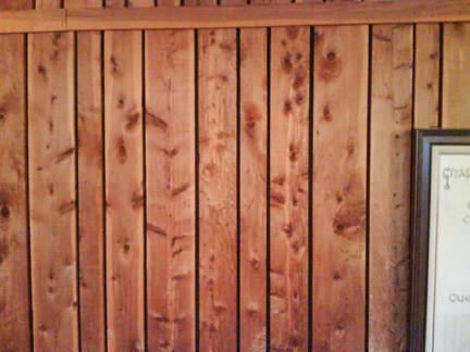 Cedar Paneling Stained Ozark Cedar Used As Paneling And