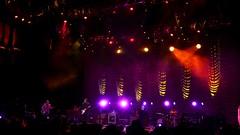 dim lit stage
