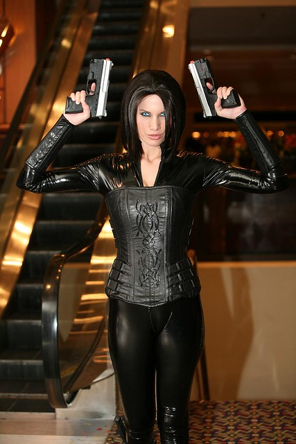 ... Selene from Underworld | by Walt Stoneburner  sc 1 st  Flickr & Selene from Underworld | Selene holding two guns | Flickr