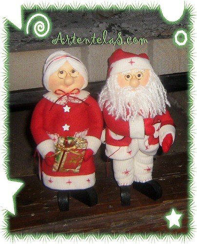 Artentelas se or y se ora noela flickr photo sharing - Papa noel de tela ...