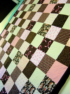 Breast Cancer Charity Quilt detail | by alissahcarlton