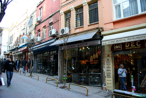 Street of music shops near Tünel  Square, Istanbul | by Vince Millett