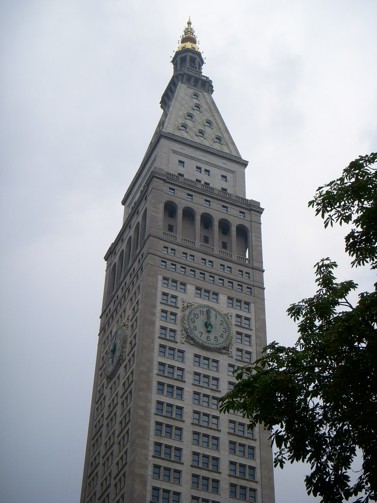 met life tower closer from madison square park nyc