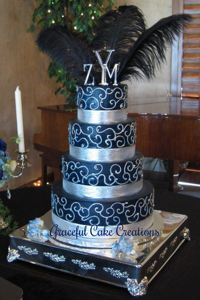 Ice Blue Wedding Cakes