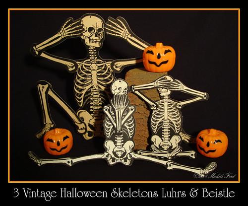 Vintage halloween decorations - Vintage Halloween Skeletons H E Luhrs Amp Beistle Flickr